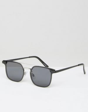 Spitfire Солнцезащитные очки в квадратной оправе. Цвет: черный