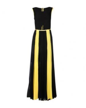 Длинное платье TENAX. Цвет: черный