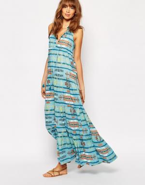 Christophe Sauvat Платье Tijuana Lai. Цвет: синий