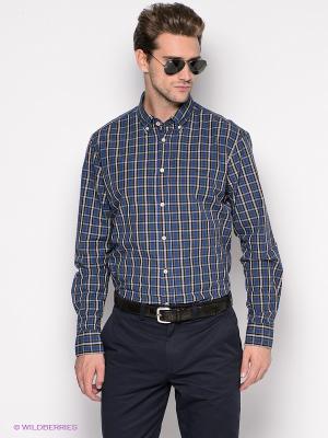 Рубашка ARROW. Цвет: синий, зеленый, белый