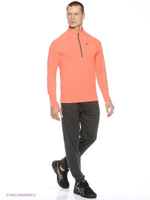 Джемпер LS 1/2 Zip Top ASICS. Цвет: оранжевый