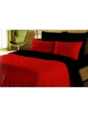Комплект постельного белья La Pastel. Цвет: черный, красный