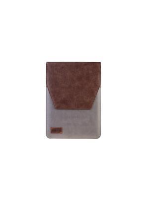 Папка YORK р3N 10кожа/нубук коричневый/серый INTERSTEP. Цвет: коричневый