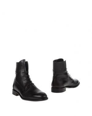 Полусапоги и высокие ботинки LEONARDO PRINCIPI. Цвет: темно-коричневый
