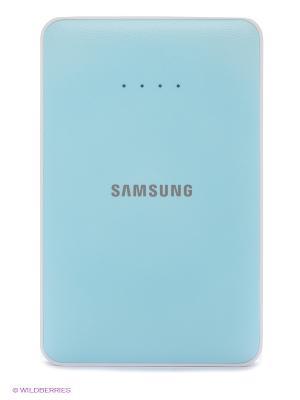 Портативное зарядное устройство+кабель microUSB Samsung. Цвет: голубой