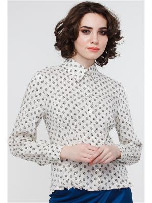 Блузка VICTORIA VEISBRUT. Цвет: бежевый, черный