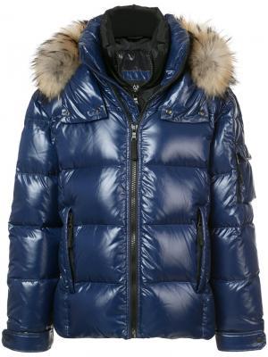 Дутая куртка New Mountain Sam.. Цвет: синий