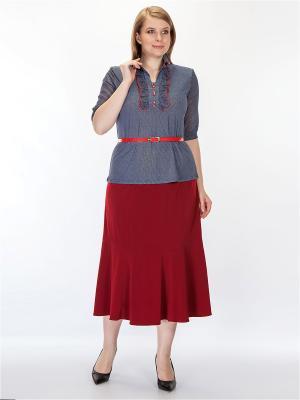 Блузка HELLO MODA!. Цвет: синий, красный