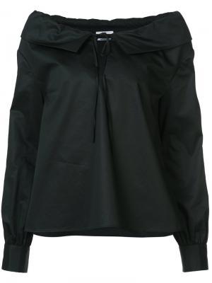 Блузка с завязками на груди Co. Цвет: чёрный