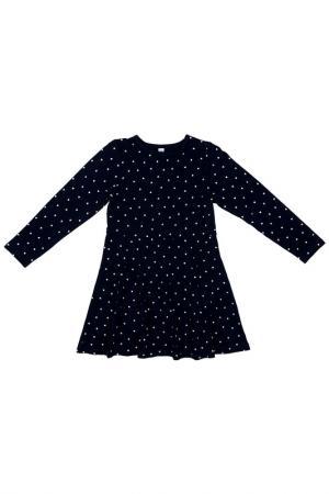 Платье PlayToday. Цвет: темно-синий, белый