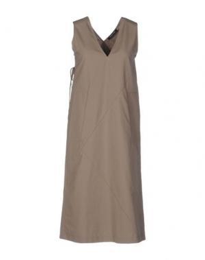 Платье до колена DAMIR DOMA. Цвет: хаки