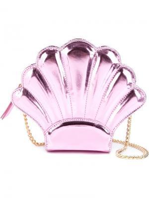 Сумка Shell Mirror Yazbukey. Цвет: розовый и фиолетовый