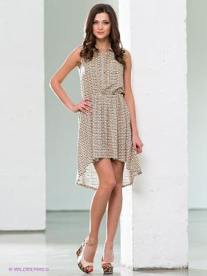 Платье F5. Цвет: бежевый