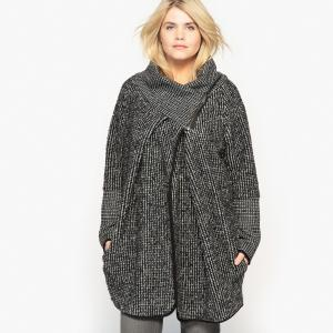 Пальто асимметричное CASTALUNA. Цвет: черный/ белый