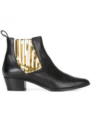 Ботинки с контрастной вставкой  LAutre Chose L'Autre. Цвет: чёрный