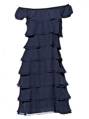 Платье из шифона CARRY ALLEN. Цвет: иссиня-чёрный