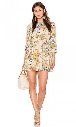 Мини платье madeline Lucca Couture. Цвет: беж