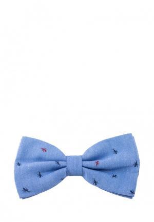 Бабочка Churchill accessories. Цвет: голубой