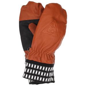 Варежки DC Supply Mitt Leather Brown Shoes. Цвет: коричневый