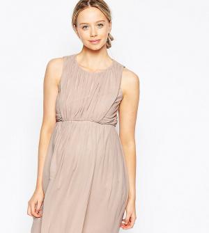 ASOS Maternity Платье-тюльпан мини для беременных. Цвет: розовый