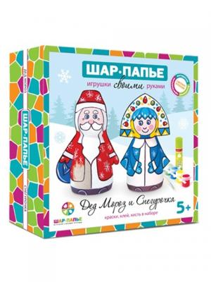 Дед Мороз и Снегурочка из ШАР-ПАПЬЕ. Цвет: белый, синий, голубой