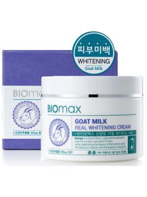 Интенсивно отбеливающий крем с экстрактом козьего молока BIO max. Цвет: белый