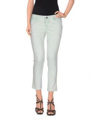Джинсовые брюки-капри ACCIAIO. Цвет: светло-зеленый