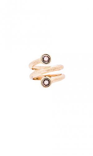 Кольцо hapi SunaharA. Цвет: металлический золотой