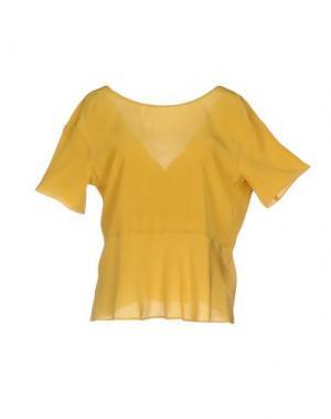 Блузка GOLD CASE. Цвет: охра