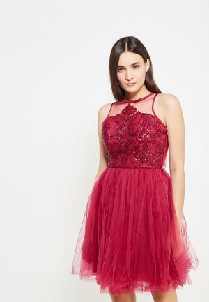 Платье Chi London. Цвет: розовый