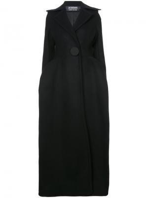 Длинное пальто на одной пуговице Jacquemus. Цвет: чёрный