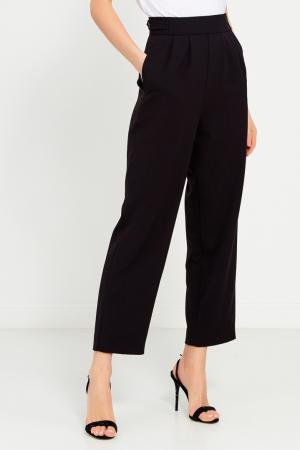 Черные брюки со складками Cyrille Gassiline. Цвет: черный