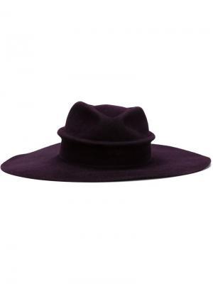 Фетровая шляпа Cordobes Gladys Tamez Millinery. Цвет: розовый и фиолетовый