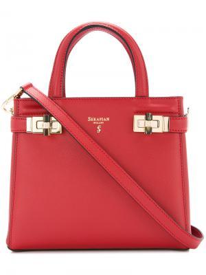 Мини-сумка Meline Serapian. Цвет: красный