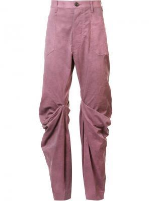 Джинсы с драпировкой Andreas Kronthaler For Vivienne Westwood. Цвет: розовый и фиолетовый