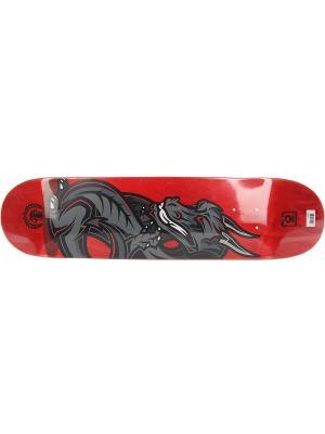 Профессиональный скейтборд Dragon, размер 7,75x31,5, конкейв Medium Юнион скейтборды. Цвет: серый, красный