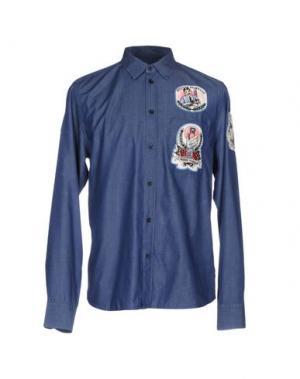 Джинсовая рубашка FRANKIE MORELLO. Цвет: синий