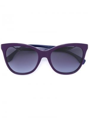 Солнцезащитные очки  в оправе кошачий глаз Fendi Eyewear. Цвет: розовый и фиолетовый