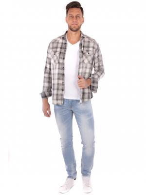 Рубашка WHITNEY. Цвет: серый, белый