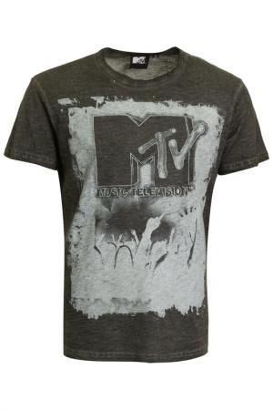 Футболка Mtv. Цвет: серый