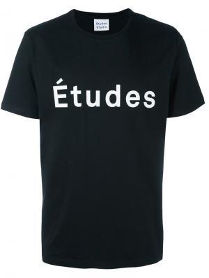 Футболка с принтом логотипа Études. Цвет: чёрный