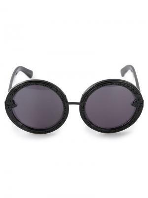 Солнцезащитные очки Orbit Filigree Karen Walker Eyewear. Цвет: чёрный
