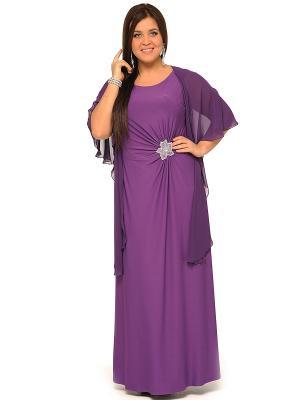 Платье, кардиган SVESTA. Цвет: фиолетовый