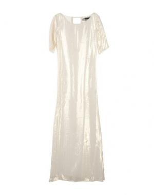 Длинное платье PATRIZIA PEPE SERA. Цвет: бежевый