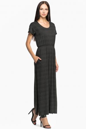 Трикотажное платье из хлопка 149701 Private Sun. Цвет: серый