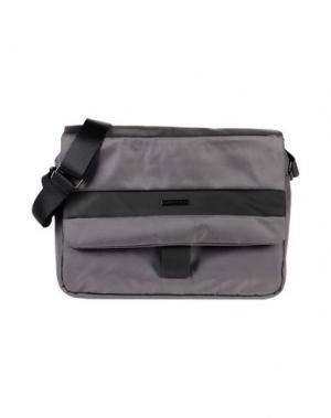 Деловые сумки MOMO DESIGN. Цвет: свинцово-серый