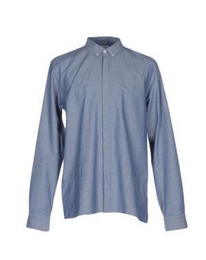 Джинсовая рубашка ONTOUR. Цвет: синий