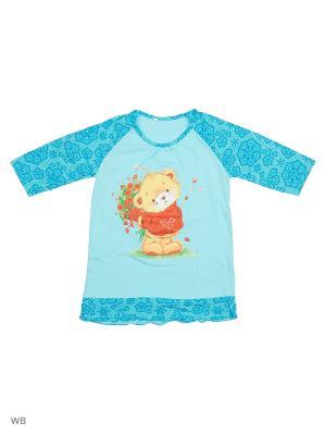 Ночные сорочки Flip. Цвет: голубой