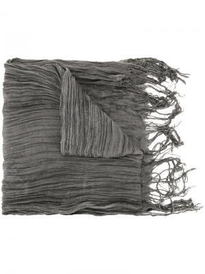 Плиссированный шарф Greg Lauren. Цвет: серый