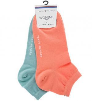 Комплект из двух пар однотонных носков Tommy Hilfiger. Цвет: мятный
